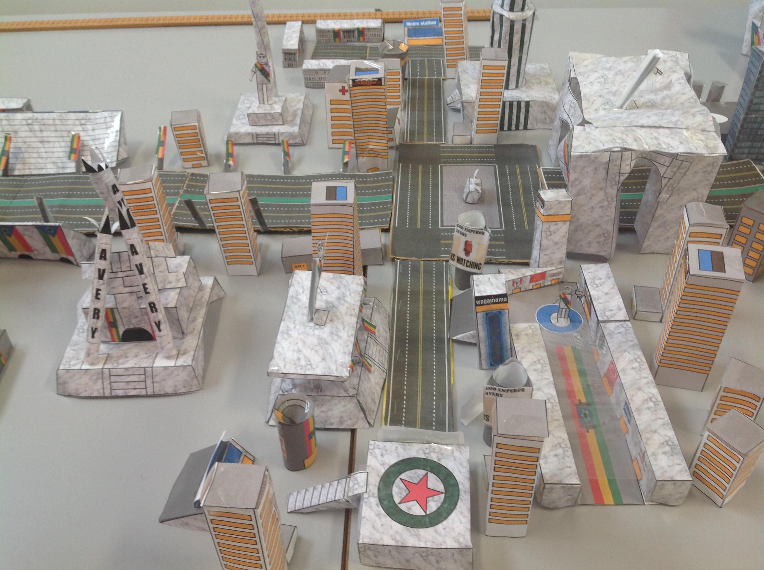 Picture of Declan's paper skyscrapers