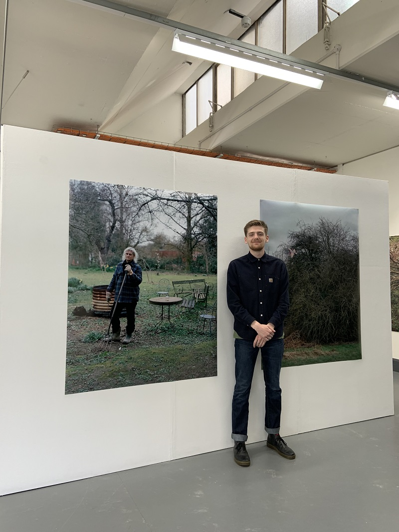 Mat Scott with some of his work