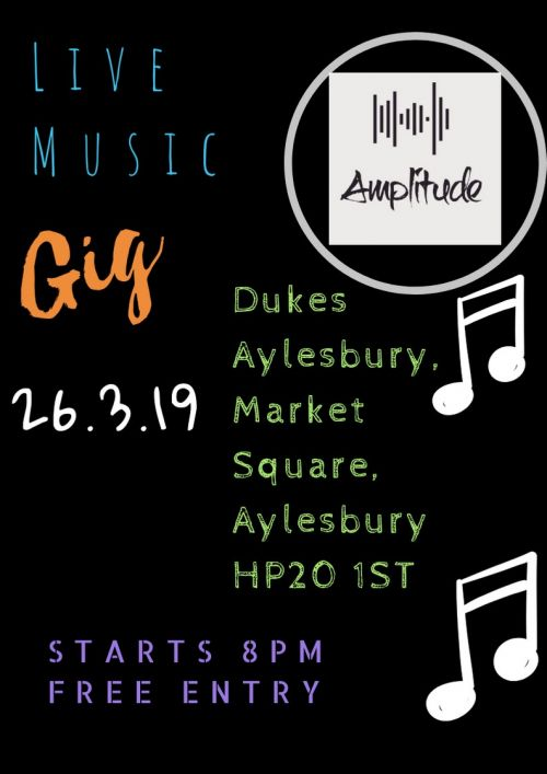 Live Music - Amplitude 2nd April 2019 (CLICK TO OPEN)